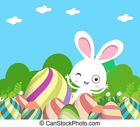 Cute Bunny Easter eggs
