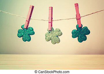Saint Patricks Day ornaments - Saint Patricks Day clover...