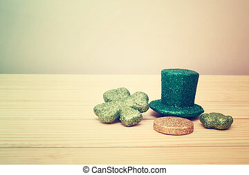 Saint Patricks Day ornaments - Saint Patricks Day hat, coin,...