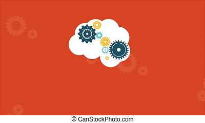Clauod machine Video animation - Wheel on cloud Video...