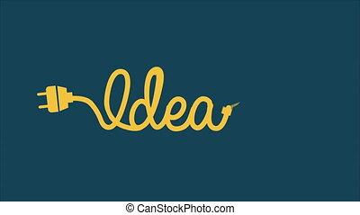 Bulb Idea Video animation