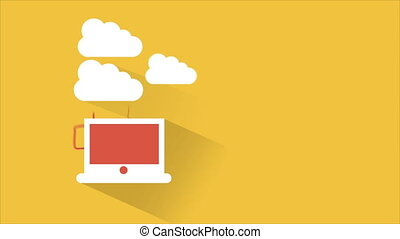 Cloud computing Video animation, HD 1080