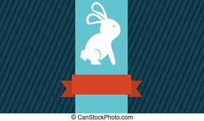 Easter Video animation - Easetr Rabbit, Video animation, HD...