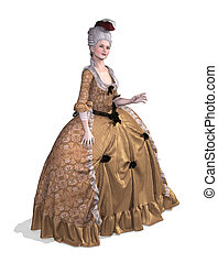 Rococo Elegence - An elegent lady wearing an 18th century...