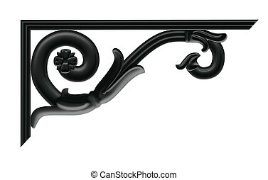decorative cantilever - a decorative element in the Empire...