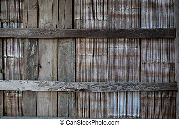 Old wood plank rustic wall