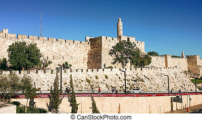 The Majestic Tower of David - Tower of David, City of David,...