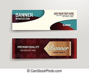 set of banner template vector luxury design.graphic or...