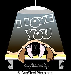 Valentine, joyful unusual Valentines Day Card, a funny, dark...
