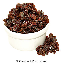 Sun Dried Raisins - Group of sun dried Californian raisins...