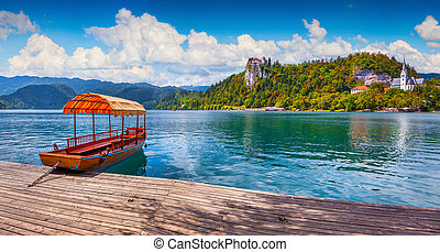 Lake Bled is a glacial lake in the Julian Alps - Lake Bled...