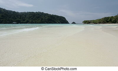 tropical lagoon with white sand bea - Beach in Koh Rok Krabi...