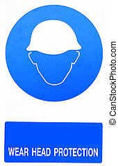 wear head protection sign