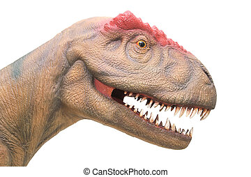 close up of dinosaur head