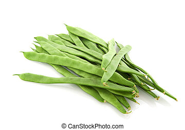 string beans - string or French beans isolated over white