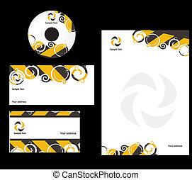 Business card - abstract swirl style Business card....