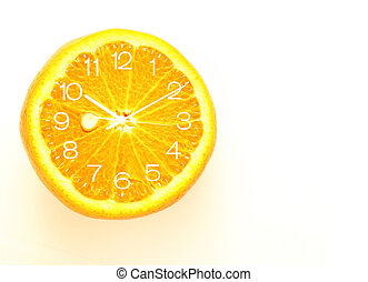 Orange fruit Slice Clock idea concept