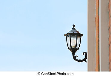 Street lamp. - Old style Street lamp on wall.