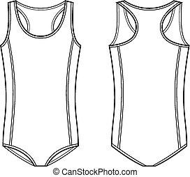 Swimsuit - Vector illustration of men's sport swimsuit....