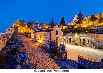 Belgrade fortress at night, Belgrade Serbia