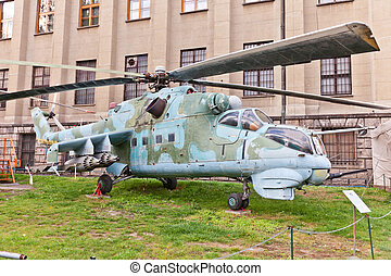 Soviet attack helicopter Mil Mi-24D (NATO reporting name...