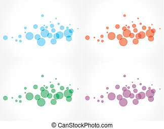 bubbles - Abstract background with bubbles in the different...