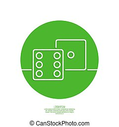 Vector icon dice cubes. - dice cubes. Concept of winning and...
