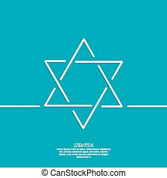 Star of david. Vector. minimal. Outline. background