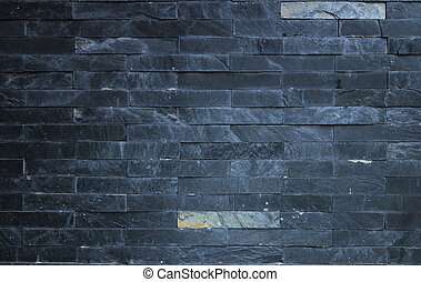 Black brick stone background.
