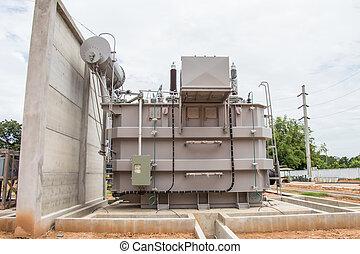 Power transformer in sub station 115 kv/22 kv wait for...