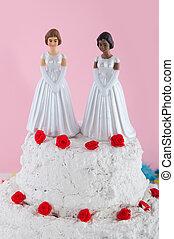 Lésbica, casório, par