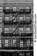 tenement in Manhattan, New York - Typical tenement in...