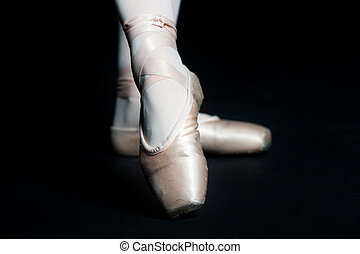 Ballet Slippers - A pair of feet wearing ballet slippers...