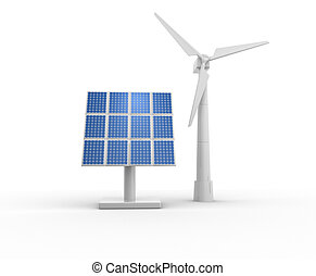 Energy system - 3d windmill and photovoltaic system