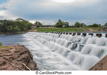 Reservoir from hydroelectric dams in Thailand