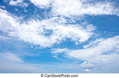 Altocumulus clouds with blue sky