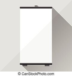 Template of advertising stand. - Template of advertising...