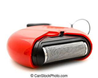 mechanical razor - Photo of the red mechanical razor against...