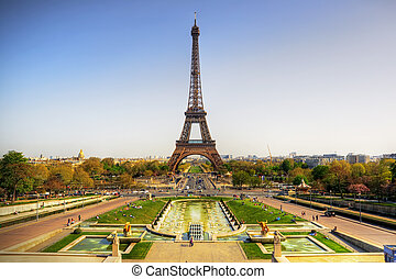 Eiffel tower - Beautiful view of Eiffel tower, Paris, France