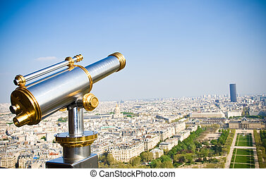 View on Paris Birds eye view - View on Paris from Eiffel...