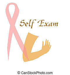 breast self exam - breast cancer awareness self examination...