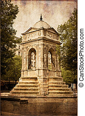 Fountain of innocents in Paris, France - Fountain of...