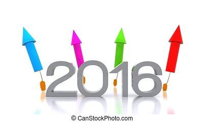 new year 2016 - Video animation of the new year 2016 with...