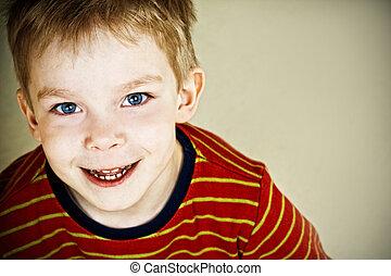 Happy boy - Happy little boy with blue eyes