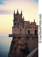 Golondrina, nido, Yalta, Crimea,