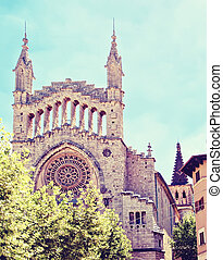 Cathedral Sant Bartomeu in Soller, Mallorca, Spain