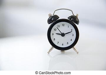 clássicas, estilo, alarme, relógio,