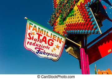 family day on a kirtag - on a folk festival is an action for...