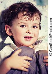 Cute little boy - Portrait of cute little smiling boy