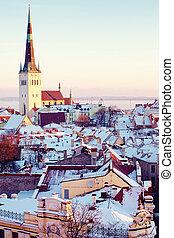 Saint Olaf church in Tallinn - View of Saint Olaf church...